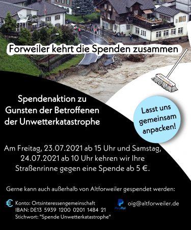 Forweiler kehrt die Spenden zusammen!