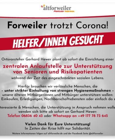 Forweiler trotzt Corona